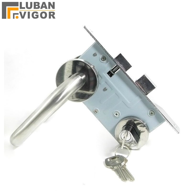 Stainless steel handle lock,Aisle door Fire lock /Fireway walkway lock ,emergency exit Fire/safety door Warehouse channe цена