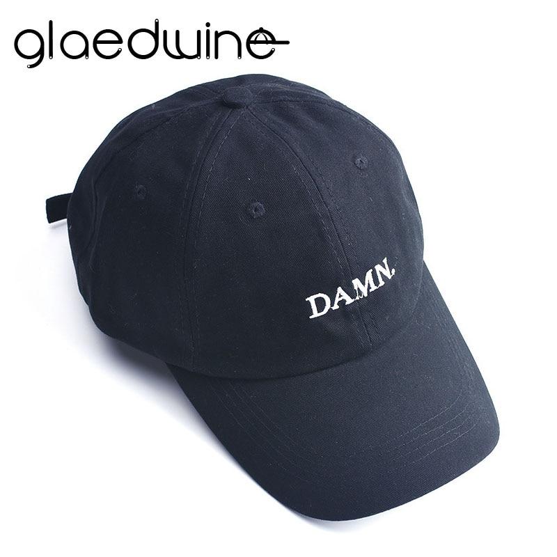 Glaedwine baseball cap DAMN snapback Dad Hat for men woman Embroidered Hip Hop bone Stitched Unstructured Rapper Kendrick Lamar bone para bordar