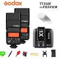 Godox GN36 TT350F Mini Flash Speedlite Com TTL HSS Alta Velocidade 1/8000S 2.4G Sistema Sem Fio X + X1T-F para Fujifilm Fuji Câmera