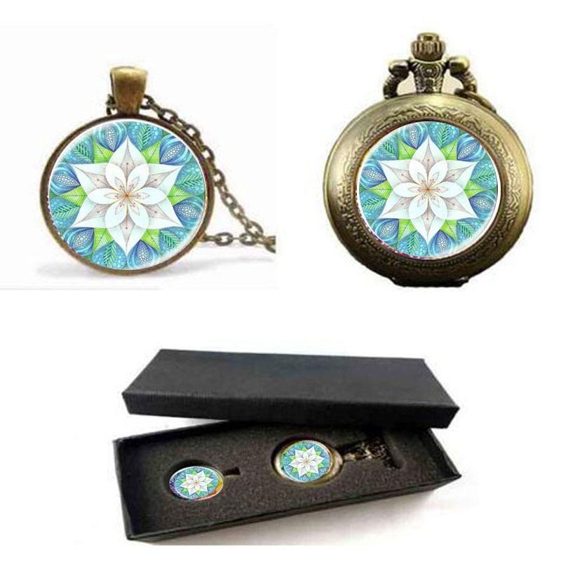 Fleur De Vie Eblouissant Bleu Kaleidoscope Mandala Bijoux