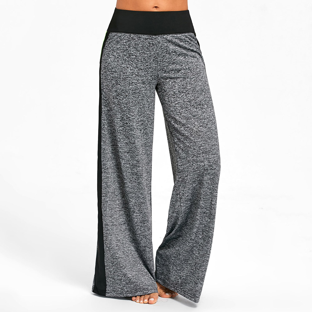 786cd65f37dfff ... Fit Type: Loose Waist Type: High Closure Type: Elastic Waist Front  Style: Flat Pattern Type: Others Pant Style: Wide Leg Pants Elasticity:  Micro-elastic ...