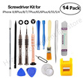 Newest 14in1 Mobile Phone Repair Tools Kit Pry Open Tool Screwdriver Set for iPhoneX 8 8p 7 6S 6 5 Samsung Pad Phone Tools Set