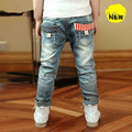 Retails 2015 Hot Sale Spring Autumn Children Baby Boys Brand Sport Denim Jeans Casual Comfortable Pants Boy Sport Trousers
