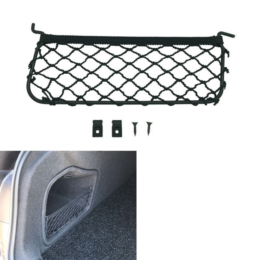 1PC Car Storage Bag Elastic Flexible Mesh Back Rear Cargo Trunk Storage Organizer Net CoverFit for 2017-2018 AUDI A4 Accessories image