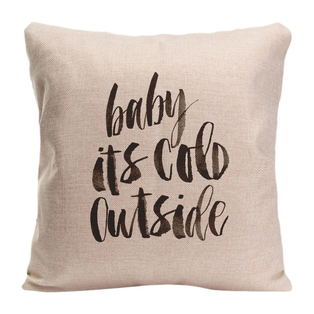 dc59692f2826 Cotton Linen Baby Its Cold Outside Throw Pillow Case Decorative Cushion  Cover Pillowcase Customize Gift High