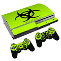 Stickers For Sony Play station 3 PS3 Controller Decal PVC Sticker For PS3 Fat Gamepad Control