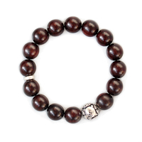 2017 Wholesale Natural Sanders Wooden Beads Bracelets For Man Women Yoga Meditation Tibetan Buddhist Prayer OM