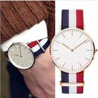 Classic Striped Nylon Strap Unisex Watches Top Brand Women Watches 2018 Casual Concise Men Watch Reloj Mujer Clock DW Watches