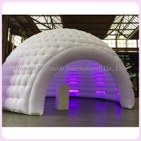 Popular multifuncionais ao ar livre espaço em branco 5 2mdiameter ar em forma de cúpula tenda inflável barraca iglu com luzes led