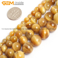 Natural Gold Blue Tiger Eye Dyed Color Beads For Jewelry Making 6-12mm 15inches DIY Jewellery FreeShipping Wholesale Gem-inside