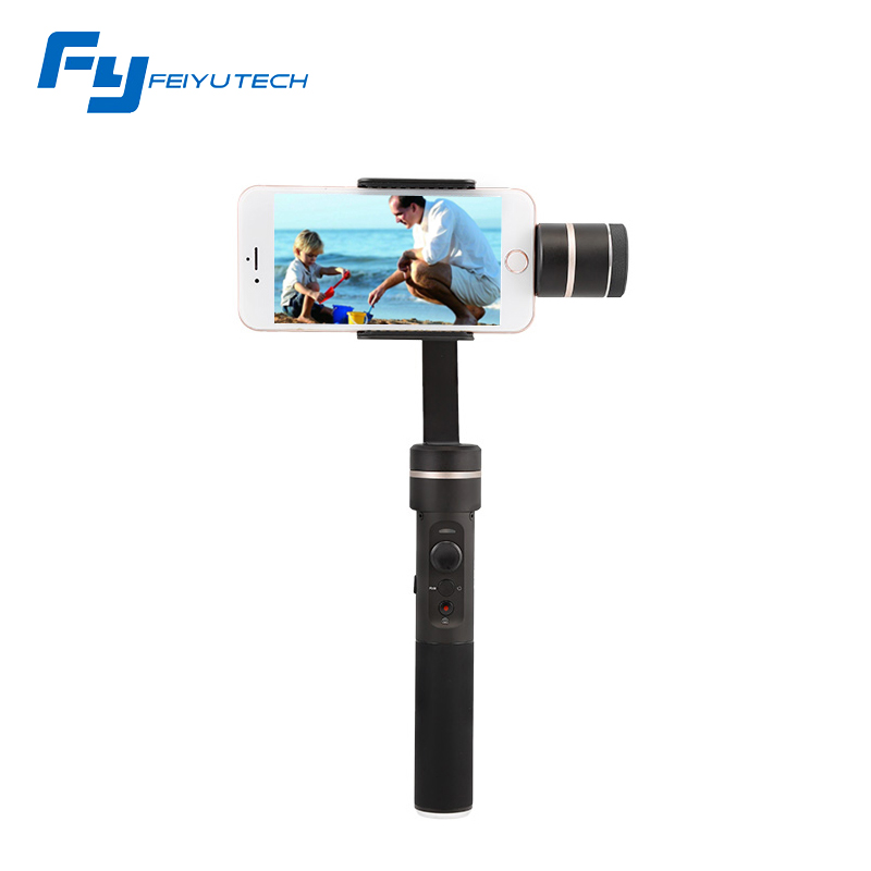 FeiyuTech NEW SPG Splashproof 3-axis Handheld Gimbal Smartphone Stabilizer for iPhone/Xiaomi/Samsung GoPro HERO5 4 3 3+ Xiaoyi yuneec q500 typhoon quadcopter handheld cgo steadygrip gimbal black