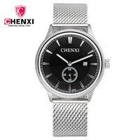 2016 CHENXI Brand Men S Watches Dress Quartz Watch Men Steel Mesh Strap Quartz Watch Ultra