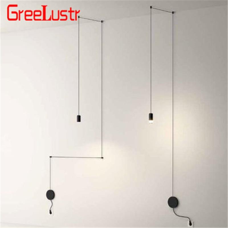 Nordic Design Iron Line Led Pendant Lamp G9 Creative  Geometric Chandelier Hanglamp For Living Room Home Lustre Suspension Light