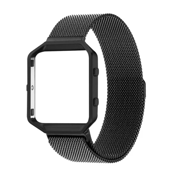 Luxe Milasene Horloge Band Band Meatal Frame 2 In 1 Voor Fitbit