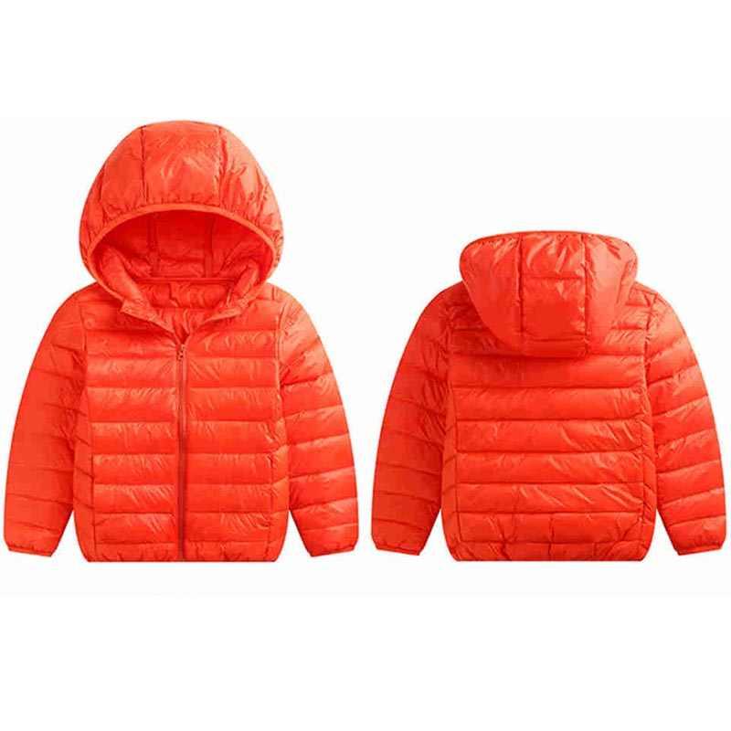 Детская куртка, верхняя одежда осеннее теплое пуховое пальто с капюшоном для мальчиков и девочек парка для подростков детская зимняя куртка Размер 1, 2, 10, 12, 15 лет