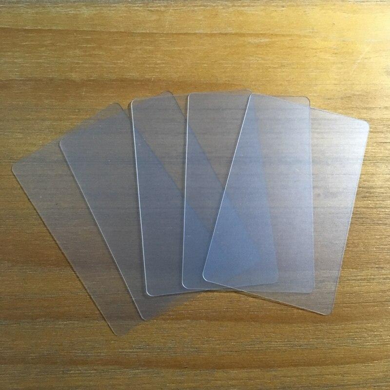 500 sztuk/partia hurtownia nazwa wizytówki 85.5*54mm matowy z tworzywa sztucznego pvc puste przezroczyste karty bez nadruku w Wizytówki od Artykuły biurowe i szkolne na  Grupa 2