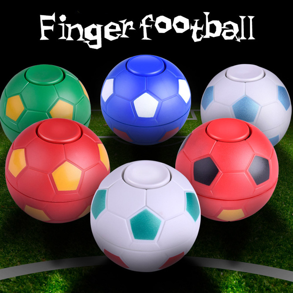 2018 Toy 5cm Kids antistress squishies spiner Finge Football Game Hand Spinner Focus ADHD EDC Anti Stress Gyro Toy