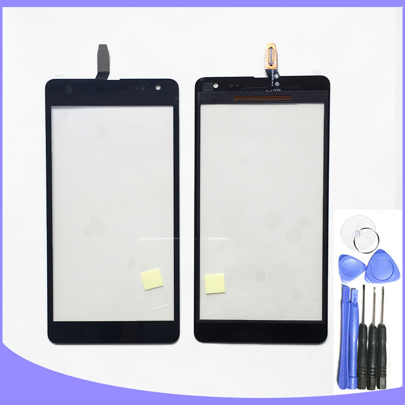 High quality touch screen for Microsoft Nokia Lumia 535 n535 digitizer touch panel front glass lens free tools