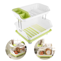Double Layer Kitchen Dishes Draining Rack Bowl Dishes Holders Kitchen Storage Organization Vegetable Draining Rack