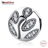 LZESHINE New Wonderful Leaves Tree Clip Beads Fit Original Charm Bracelets 100 925 Sterling Silver Jewelry