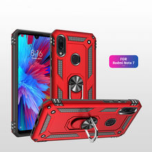 Shockproof Armor ring Case Luxury xiomi redmi note 7 Silicone soft Bumper Phone Case for funda Xiaomi Redmi note 7 Cover Cases(China)