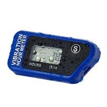 Compteur d'heure à Vibration numérique sans fil bleu, réutilisable pour moto, ATV, Dirt Bike, équipement de tondeuse à gazon, RL-HM016B