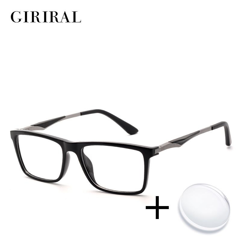 TR90 men prescription glasses retro reading colored computer clear sight optical transparent myopia glasses #YX0140(China)