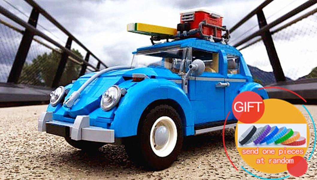 все цены на 21003 1193Pcs the Volkswagen Beetle model Building Classic Compatible 10252 Technic car toy for children Toys lepin онлайн