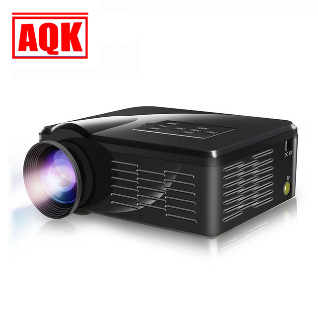 Newest 2015 LED Mini Video LCD 1080P 3D Home Theater Projector Full HD Proyector Beamer Projetor