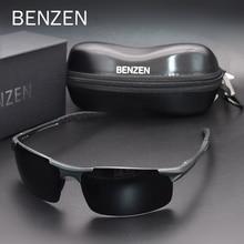 남자를위한 BENZEN 극화 된 색안경 질 Al Mg 스포츠 일요일 안경 남성 UV 보호 옥외 운전사 안경 고글 9333
