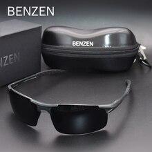 BENZEN Polarisierte Sonnenbrille Für Männer Qualität Al Mg Sport Sonnenbrille Männlichen UV Schutz Outdoor Fahrer Brille 9333