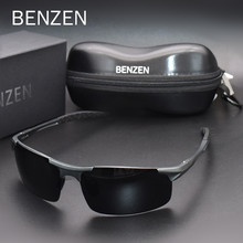 BENZEN Polarized Sunglasses For Men Quality Al-Mg Sports Sun Glasses Male UV Protection Outdoor Driver Glasses Goggles 9333(China)
