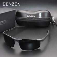Benzen óculos de sol polarizados para homens qualidade al-mg esportes óculos de sol masculino proteção uv motorista ao ar livre óculos de proteção 9333