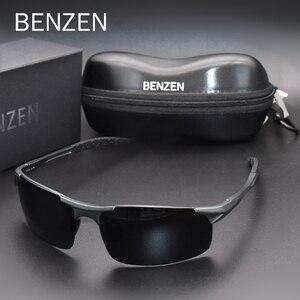 Image 1 - Benzen Gepolariseerde Zonnebril Voor Mannen Kwaliteit Al Mg Sport Zonnebril Mannelijke Uv Bescherming Outdoor Driver Glazen Goggles 9333