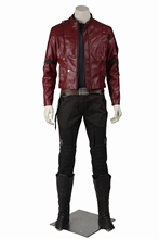 Guardians of the Galaxy Star Lord Peter Quill Cosplay PU Leather Jacket Men's Halloween Costumes Superhero Outfit Custom Made