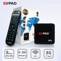 EVPAD IPTV HD Android TV Box With 1000 Free Live Channel Asian Malaysia Chinese Korean Japanese