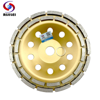 7inch 180mm Double Row Diamond Grinding Wheel Discs Thicker Bowl Shape Grinding Cup Disc Concrete Granite