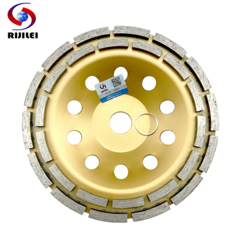 цена на 7inch Double row Diamond Grinding Wheel Discs 180mm  thicker Bowl Shape Grinding Cup disc Concrete Granite Stone Tools MX37