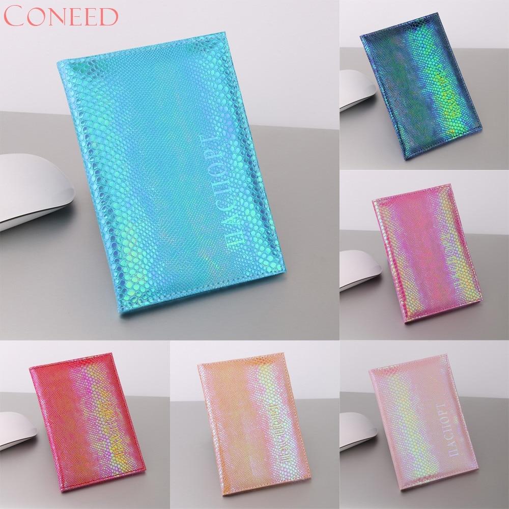 CONEED 6 Renk parlak kertenkele tahıl pasaport kapağı Mavi - Cüzdanlar - Fotoğraf 1