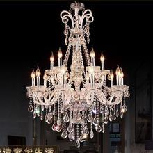 Стиль светодиодная хрустальная люстра осветительная арматура роскошные большие хрустальные люстры для гостиной