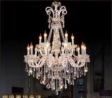 สไตล์ใหม่คริสตัล LED โคมระย้าโคมระย้าหรูหราคริสตัลขนาดใหญ่ Lustres De Cristal ห้องนั่งเล่นโคมระย้าจัดส่งฟรี