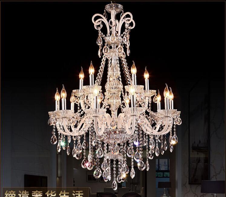 Nouveau Style LED Lustre En Cristal Luminaire De Luxe Grand Cristal Lustres de cristal Salon lustre Livraison Gratuite