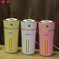 LED USB Mini Portable Cup Humidifier DC 3 7V Night Light Air Purifier Built In Lithium