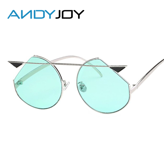 Clear Frame Personality Glasses : ANDYJOY Fashion Sunglasses Women 2017 Personality Cat Eye ...