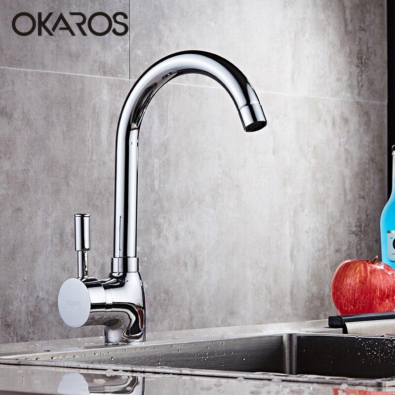 Okaros torneira da cozinha cromo terminado poupança de água potável misturadora flexível pia bacia do banheiro torneira fazer