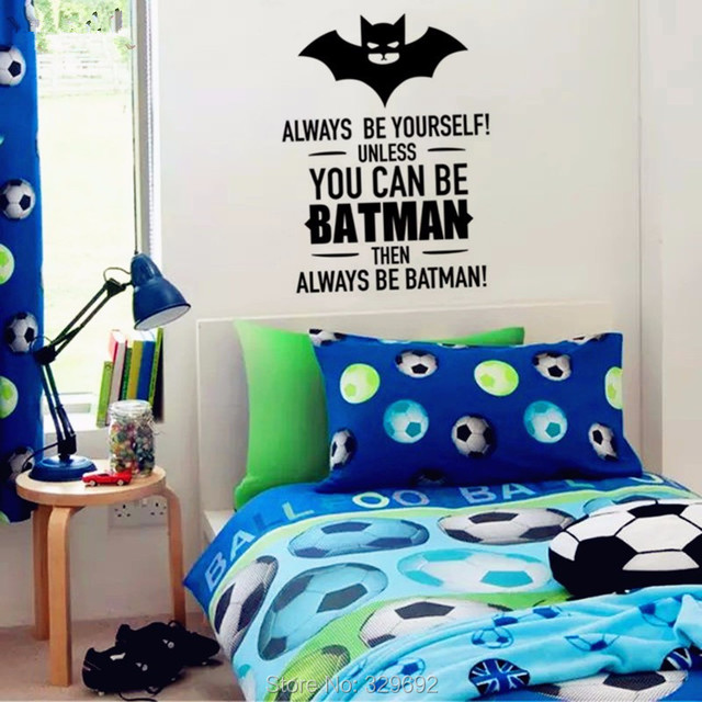 Batman Wall Sticker Quote