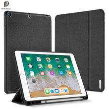 iPad 9.7 2018 Protective Stand Cover With Pencil Holder ( PU Leather Case)