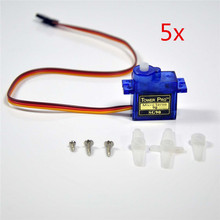 5pcs SG90 Tower Pro 9g Nylon Gear Digital Micro Servos For RC Helicopter Airplane
