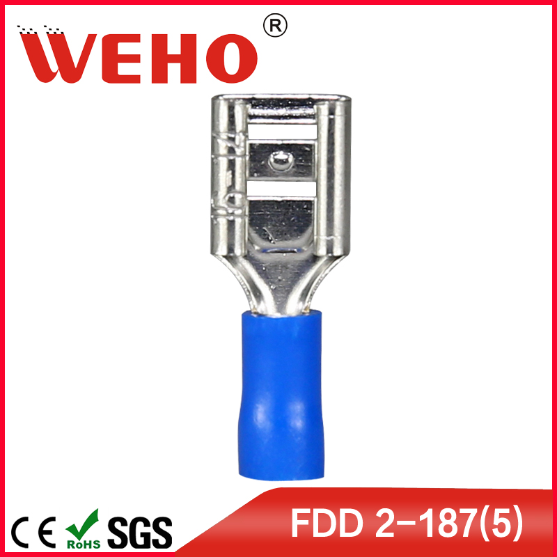 FDD2-187(5) 1000pcs/pack free shipping FDD Import wire connectors types insulated spade female terminal