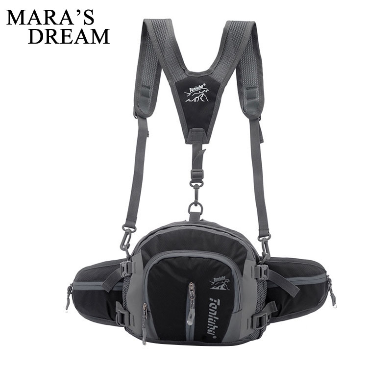 Maras Dream Unisex Multifunction Single Shoulder Strap Backpack Bag Waterproof Nylon Chest Pack Waist Bag Women Men Pack Bag